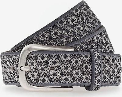 b.belt Handmade in Germany Gürtel in graumeliert / schwarz, Produktansicht