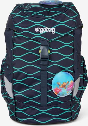 ergobag Sac à dos en bleu marine / turquoise, Vue avec produit