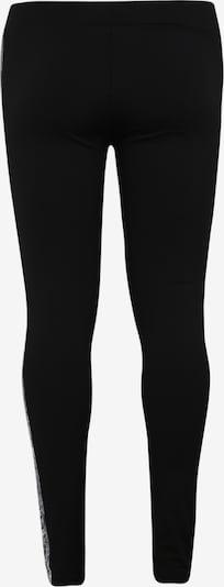 Urban Classics Curvy Leggings 'Ladies Side Striped Pattern Leggings' en gris / noir / blanc: Vue de dos