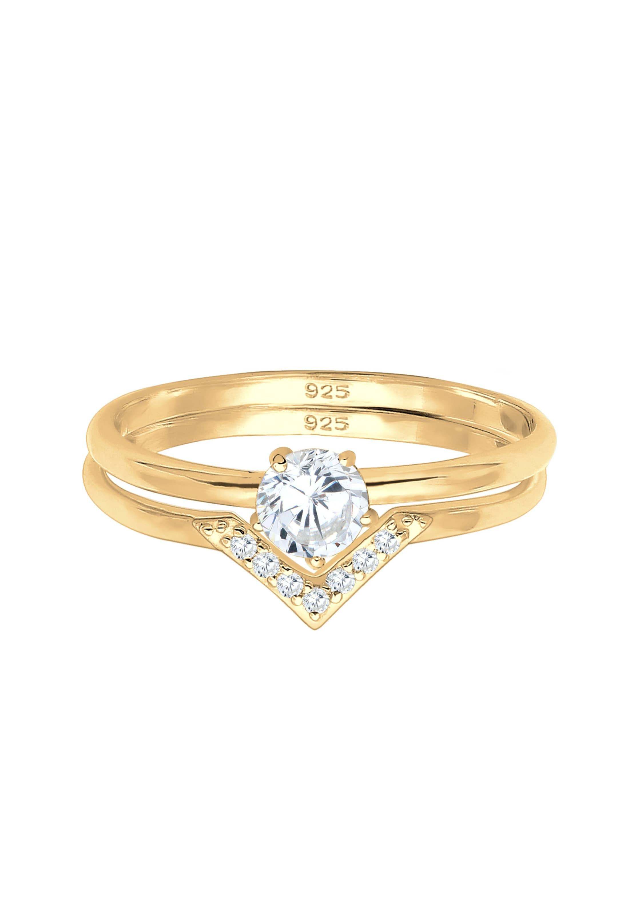 ELLI Ring in gold / weiß