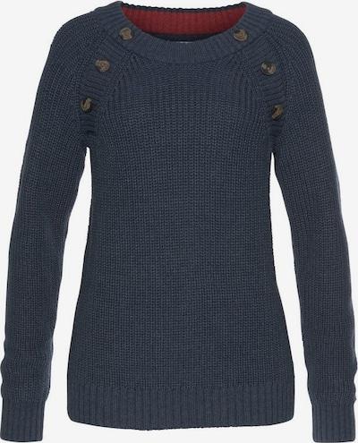 HIS JEANS Pullover in blaumeliert, Produktansicht