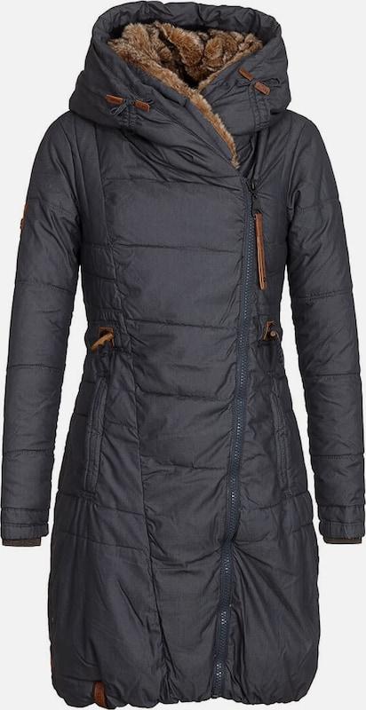 Naketano Wintermantel Wintermantel Wintermantel 'Der Geist' in dunkelblau   braunmeliert  Markenkleidung für Männer und Frauen 79289d
