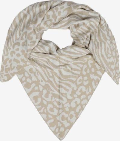 Zwillingsherz Schal 'Dreieckstuch Zebra & Leo Mix' in beige / weiß, Produktansicht