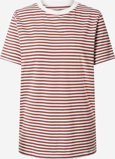 SELECTED FEMME Koszulka 'MY PERFECT' w kolorze rdzawoczerwony / białym, Podgląd produktu