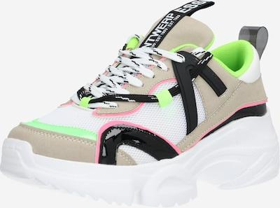 szürke / zöld / fekete / fehér Essentiel Antwerp Rövid szárú edzőcipők 'Wallace Chunky': Elölnézet