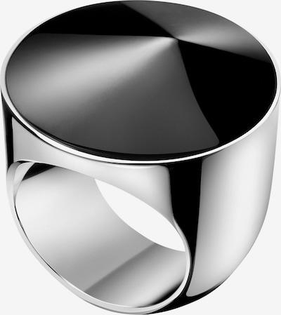 Calvin Klein Ring 'Empower' in schwarz / silber: Frontalansicht