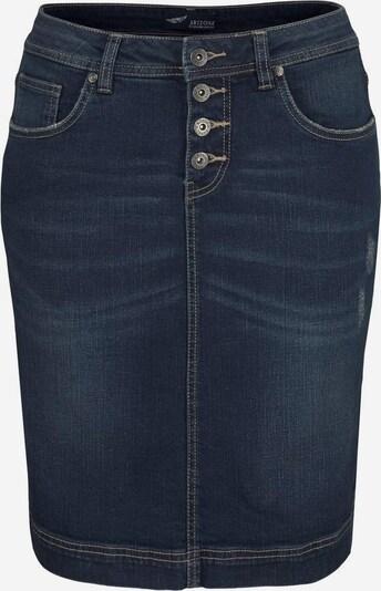 ARIZONA Jeansrock mit Knopfleiste in dunkelblau, Produktansicht