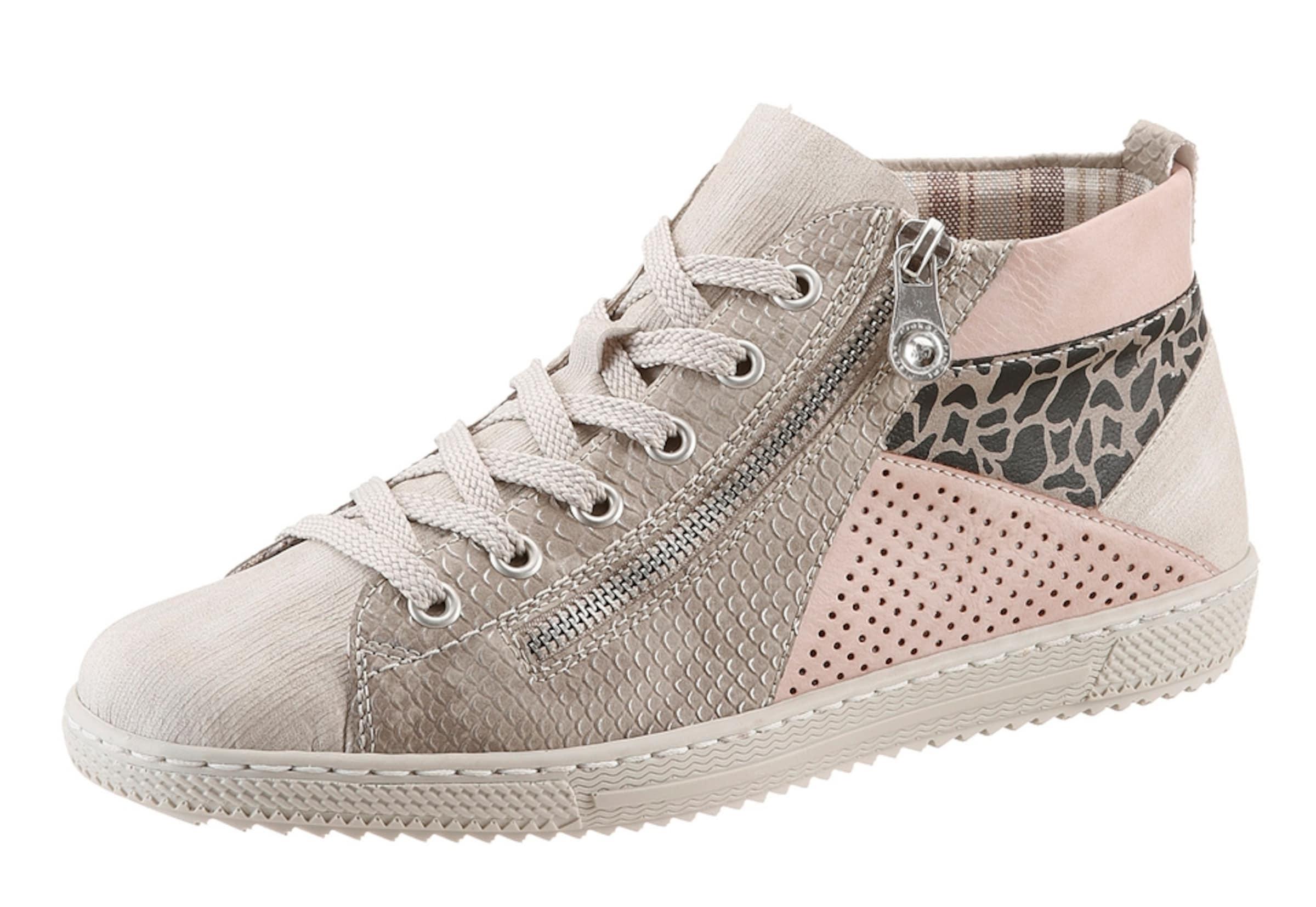 RIEKER Schnürboots im Material-Mix Verschleißfeste billige Schuhe