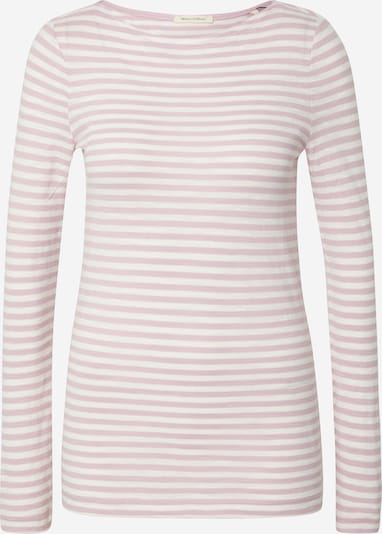 Marc O'Polo Shirt 'Organic / / T-SHIRTS LONG SLEEVE' in de kleur Rosa / Wit, Productweergave