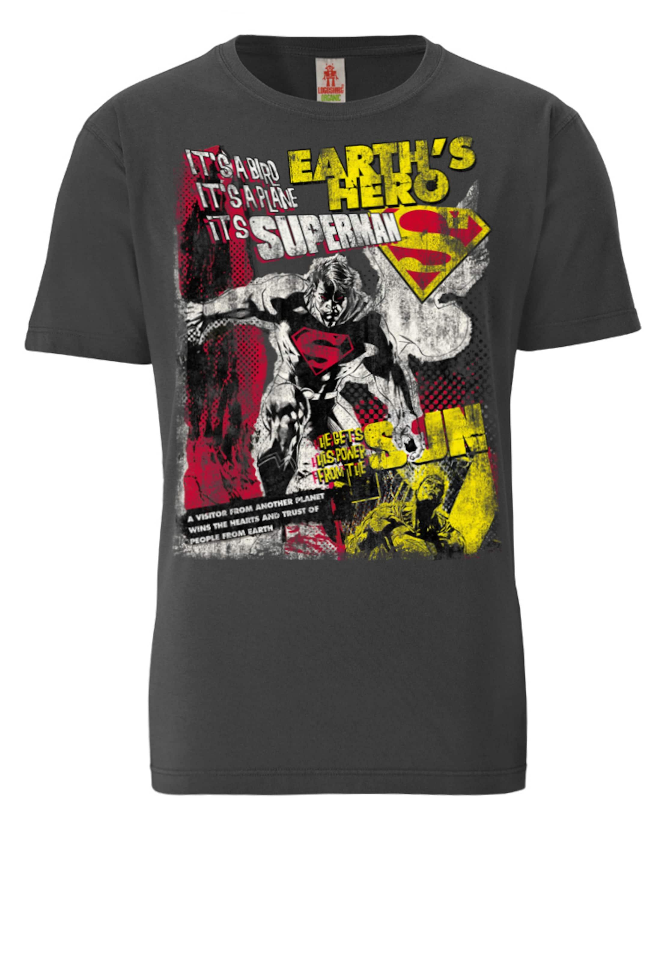 shirt In Schwarz T GelbDunkelgrau Logoshirt 'superman' Rot CdxthQBsr