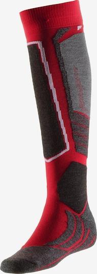 FALKE 'SK 2' Skisocken in dunkelgrau / feuerrot / schwarz, Produktansicht