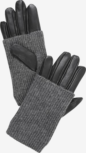 PIECES Pirkstaiņi 'PATTY', krāsa - tumši pelēks / melns, Preces skats