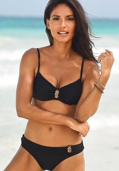 LASCANA Góra bikini 'Ella' w kolorze czarnym, Podgląd na modelu(-ce)