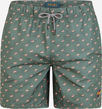 Shiwi Shorts de bain en vert foncé, Vue avec produit