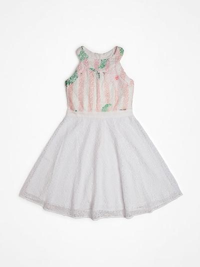 GUESS KIDS Kleid 'Marciano' in altrosa / weiß, Produktansicht