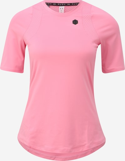 UNDER ARMOUR Sportshirt 'UA Rush SS' in pink / schwarz: Frontalansicht