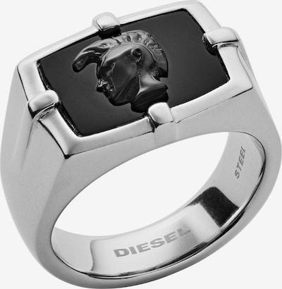 DIESEL Ring in schwarz / silber, Produktansicht