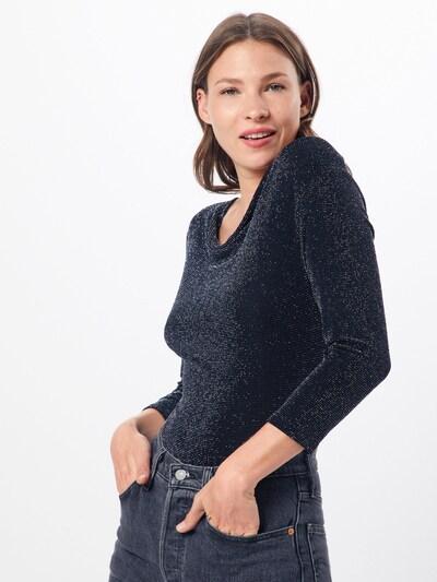 Marškinėliai 'Elanor' iš ABOUT YOU , spalva - juoda / Sidabras: Vaizdas iš priekio