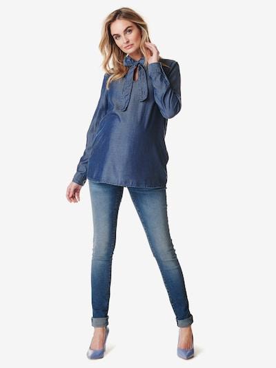 Noppies Bluse 'Bow' in blue denim, Modelansicht
