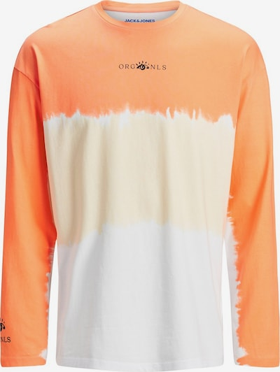 JACK & JONES Shirt 'Batik' in pastellgelb / orange / weiß: Frontalansicht