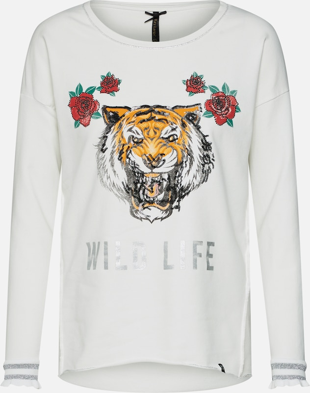 Key shirt Sweat De Mélange En CouleursBlanc Cassé Largo thQrCxsBd