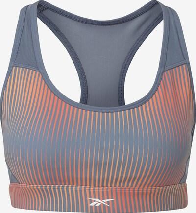 REEBOK Sport-BH in taubenblau / orange, Produktansicht