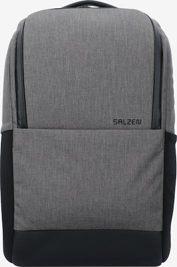 SALZEN Rucksack 'Daypack' in graumeliert / schwarz, Produktansicht