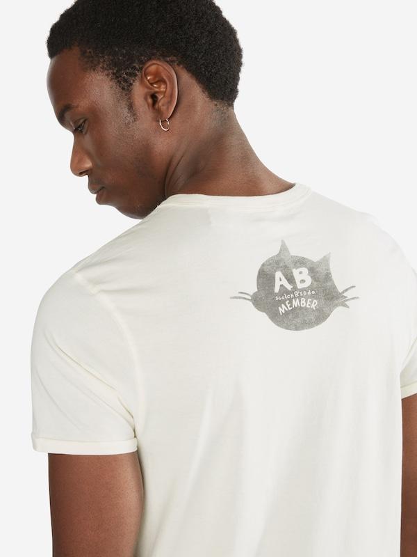 SCOTCH & SODA Shirt 'Felix Ams Blauw colab printed tee'