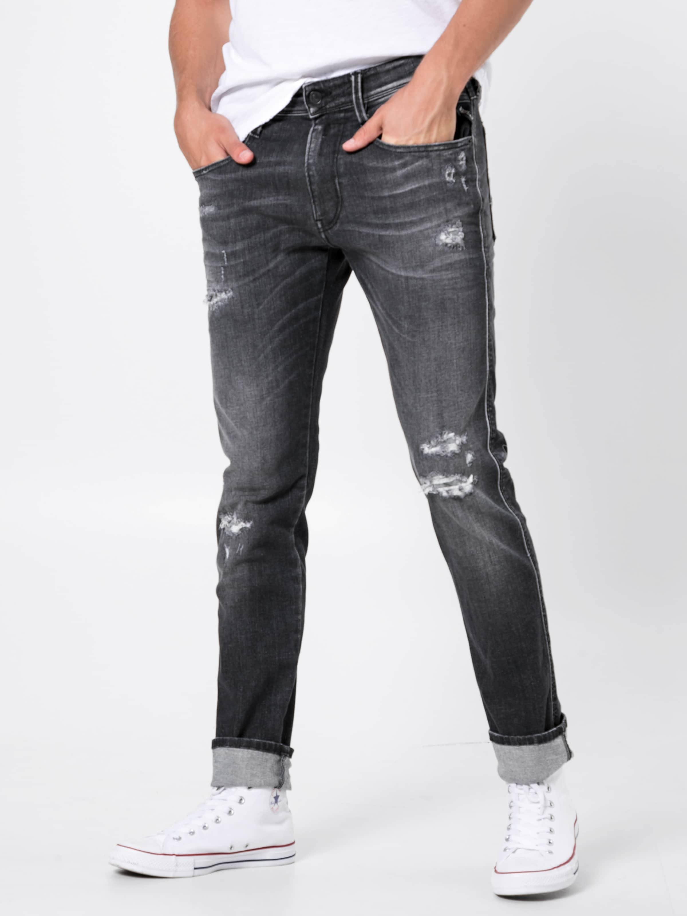 Replay Jeans Grey In Denim 'anbass' f7g6vyYb