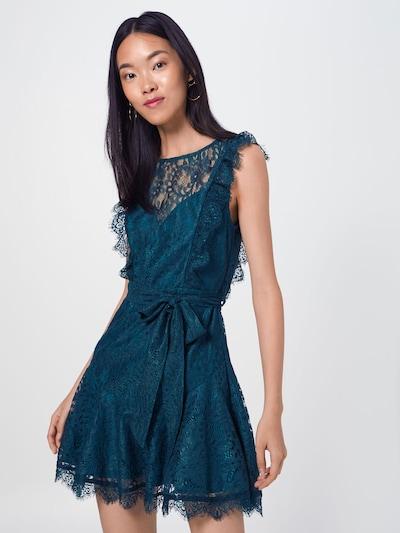 Love Triangle Robe de cocktail 'Emerald' en pétrole, Vue avec modèle
