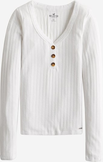 HOLLISTER Shirt 'HENLEY' in weiß, Produktansicht
