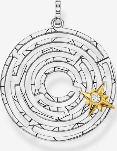 Thomas Sabo Kettenanhänger 'Labyrinth' in goldgelb / schwarz / silber, Produktansicht