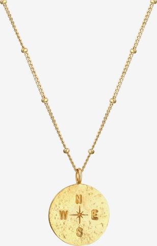 ELLI Halskette Kompass, Vintage in Gold