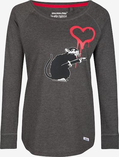 HOMEBASE T-shirt 'Brandalised by Homebase' en gris / gris foncé / gris chiné, Vue avec produit