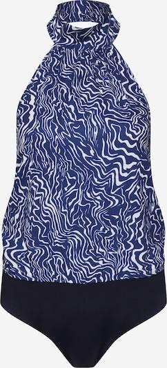 4th & Reckless Top 'KENNY' in de kleur Blauw / Wit, Productweergave