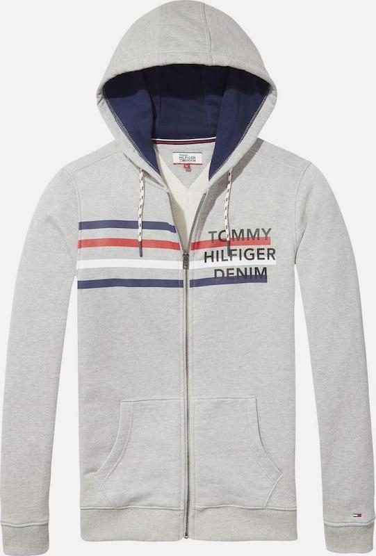 Tommy Jeans Sweatshirt 'THDM BASIC LOGO HDZIPTHRU HKNIT 13'