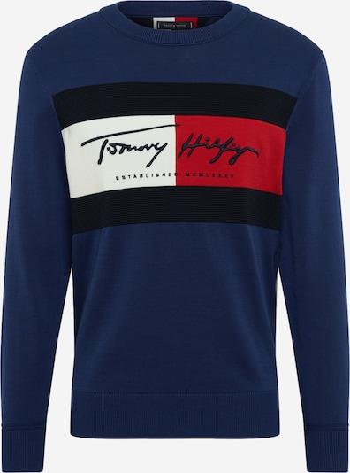 kék / piros / fekete / fehér TOMMY HILFIGER Tréning póló: Elölnézet
