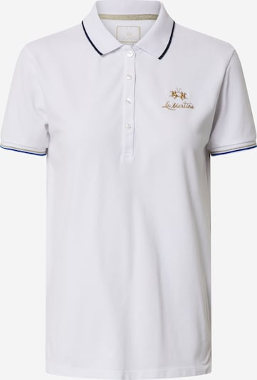 La Martina T-shirt en blanc, Vue avec produit