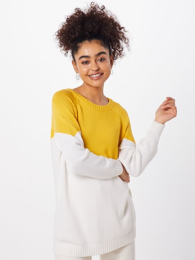 ONLY Pullover 'SARA' in gelb / weiß, Modelansicht