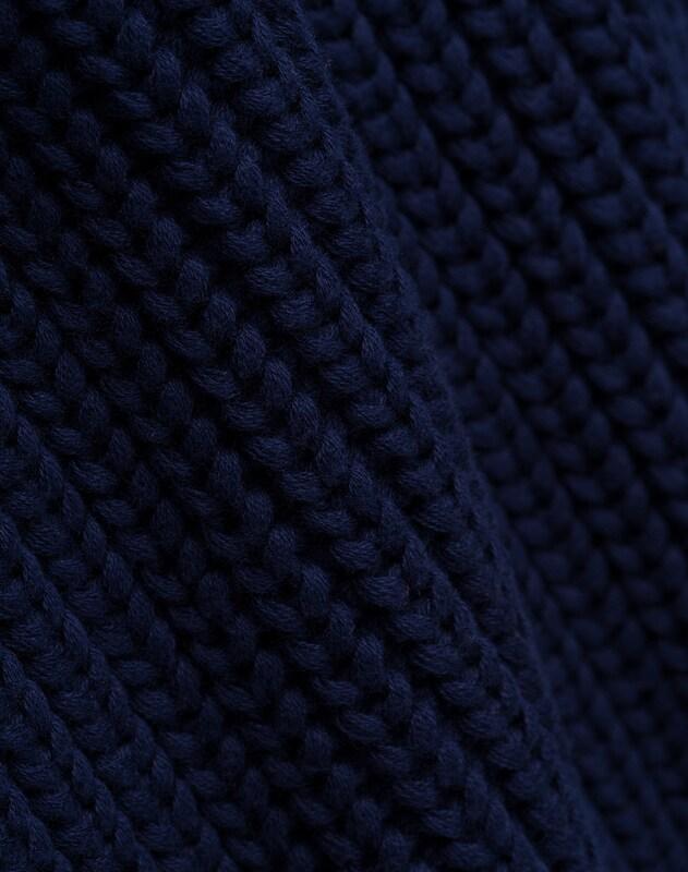 Crew Blauw Ultramarine Ivy Neck' Oak amp; Trui 'chunky In zzxI108w
