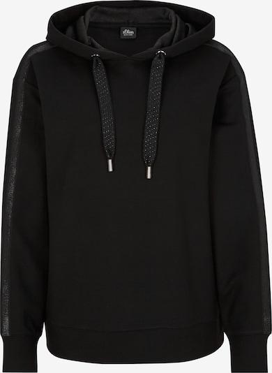 s.Oliver BLACK LABEL Sweatshirt in schwarz, Produktansicht