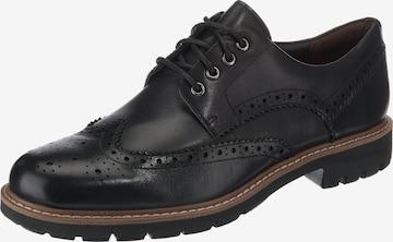 Chaussure à lacets 'Batcombe Wing' CLARKS en noir