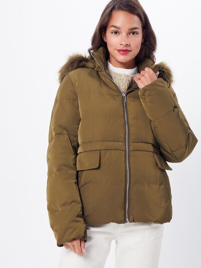 VILA Zimska jakna 'VICALIFORNIA STRAIGHT SHORT DOWN JACKET' | zelena barva: Frontalni pogled