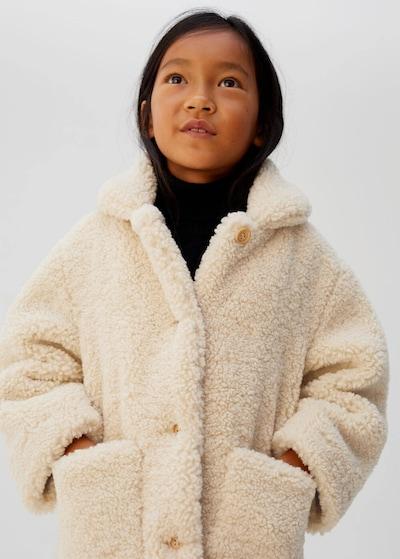 MANGO KIDS Plašč 'Coat cosy' | kremna barva: Frontalni pogled