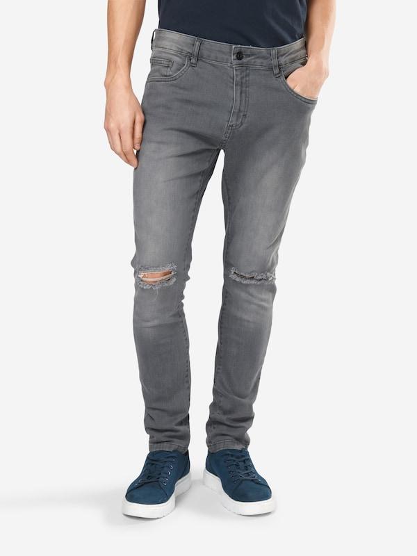Urban Classics Jeans Slim Fit Knee Cut Denim Pants
