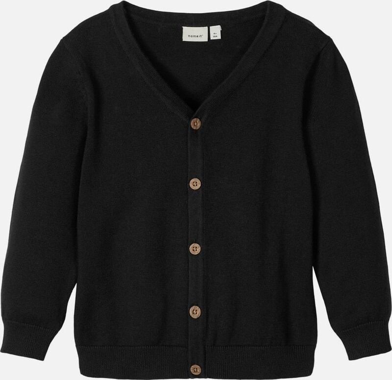 NAME IT Cardigan in schwarz: Frontalansicht