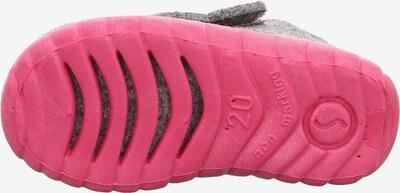 Naminės šlepetės 'Happy' iš SUPERFIT , spalva - pilka / margai rožinė / juoda: Vaizdas iš apačios