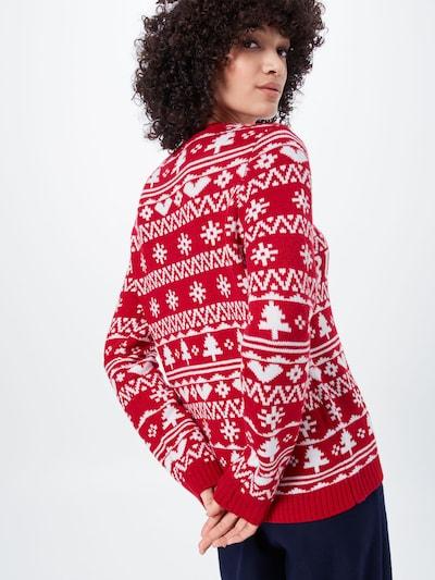 Fashion Union Džemperis 'NAUGHTY' pieejami sarkans: Aizmugures skats