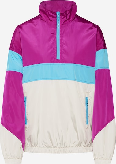 Urban Classics Jacke in hellblau / dunkellila / weiß, Produktansicht
