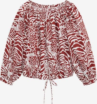 MANGO Bluse 'Alba' in rubinrot / weiß, Produktansicht